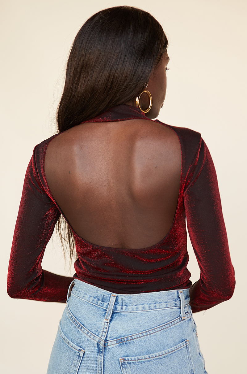 Back Cut Out Bodysuit