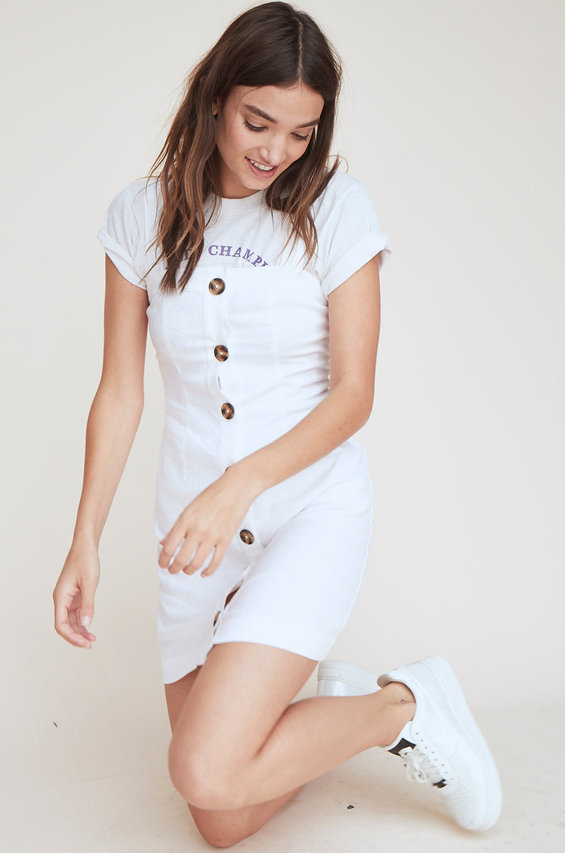 Button Up Tank Dress