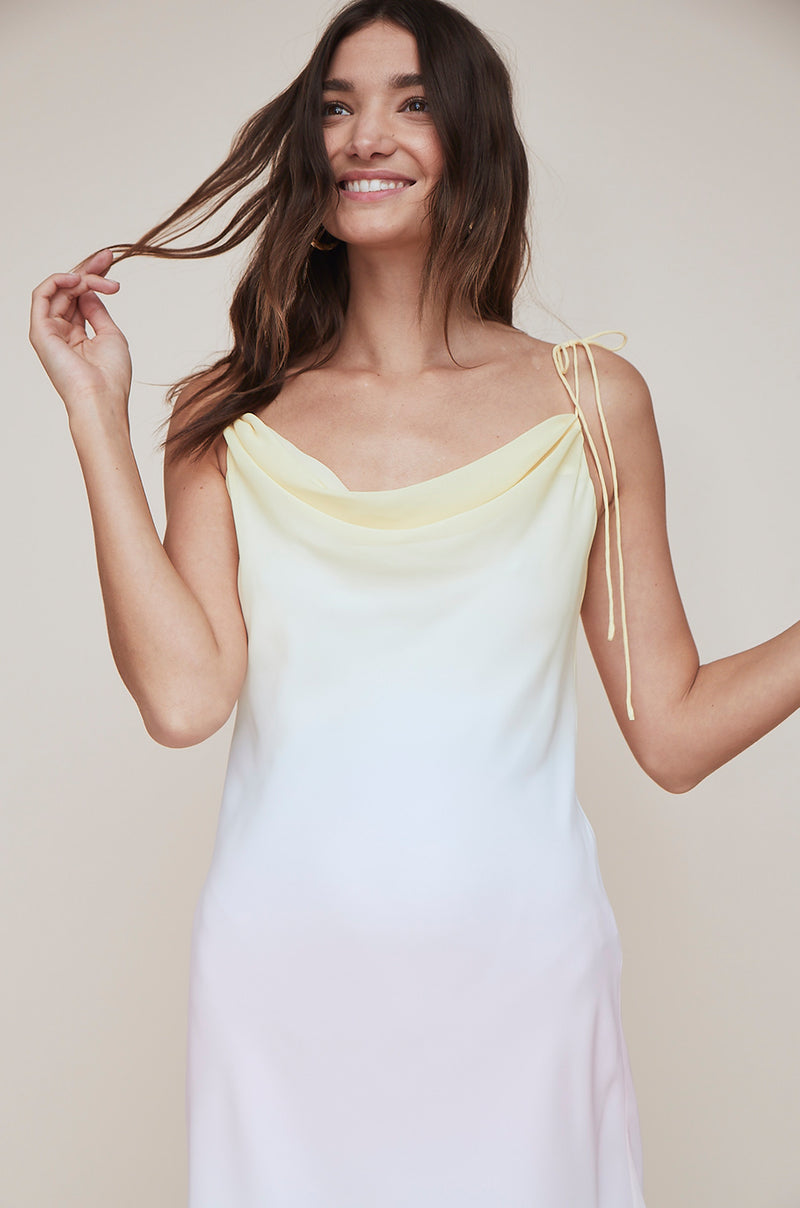 Cowl Mini Slip Dress