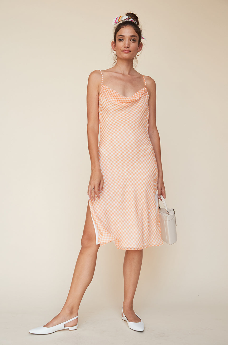 926394a4d53 Cowl Neck Dress with Slits