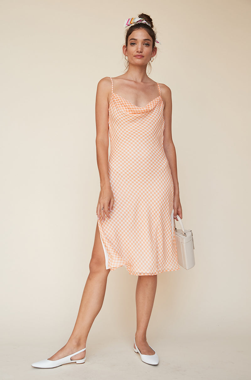 Cowl Neck Dress with Slits