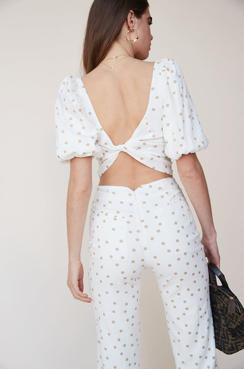 Polka Dot Cropped Pant