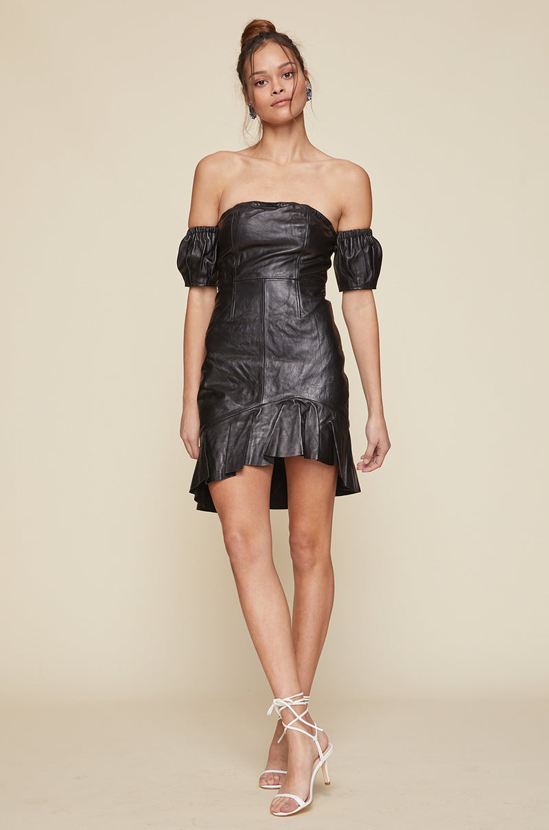 Davide Leather Dress