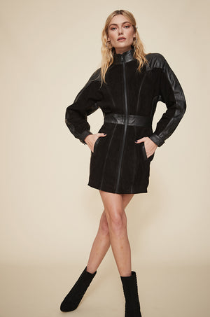 Dolman Zip Up Dress