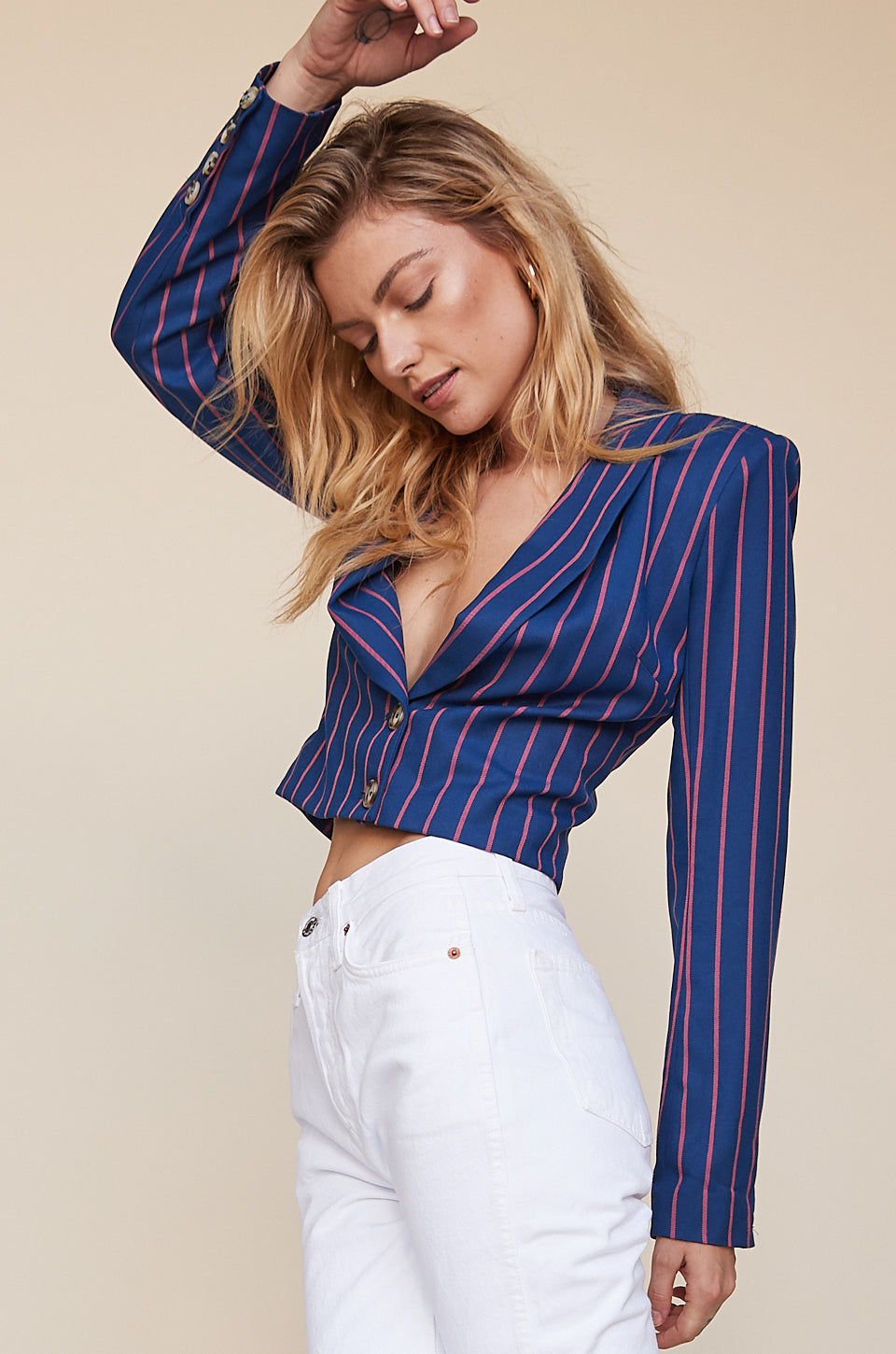 Cropped Double Breasted Jacket