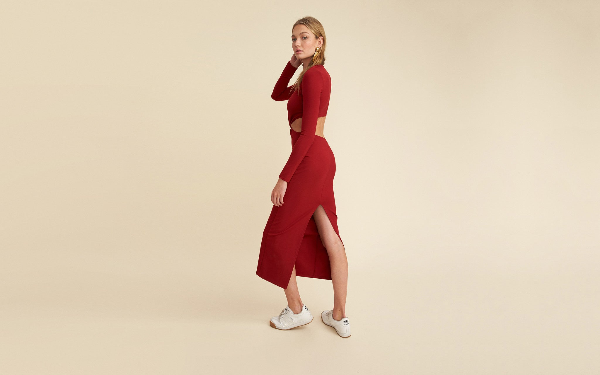 Store With Big Discount Top Quality For Sale Dress 51 in Red LPA Discount Fashion Style Outlet Best Place caZicNTll