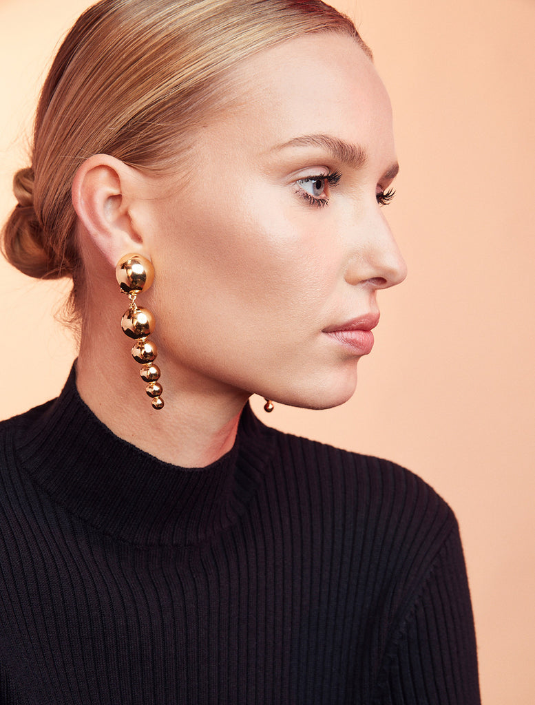 Drop Sphere Earrings