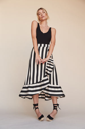 Hi Low Ruffle Skirt