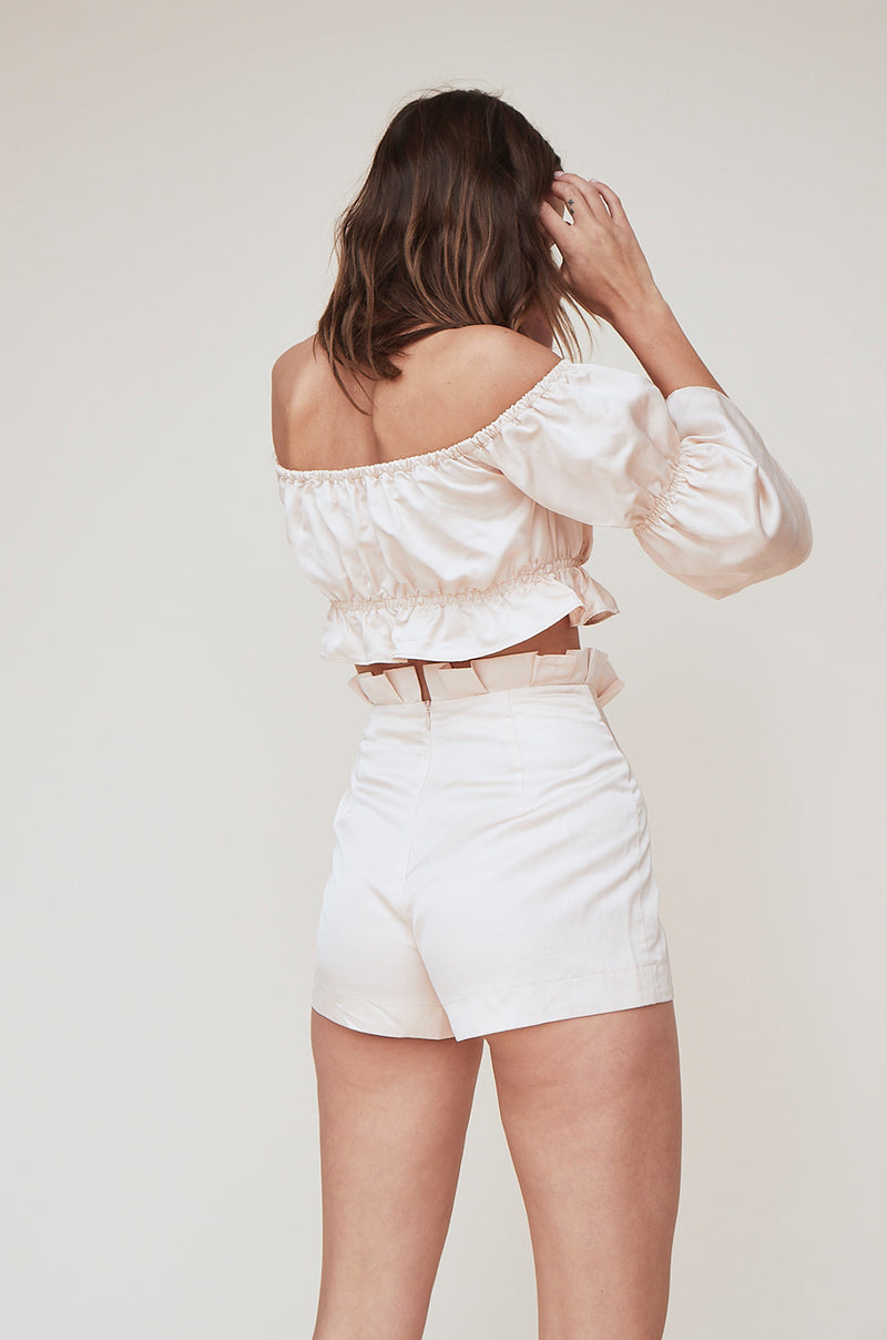 High Waist Ruffle Short