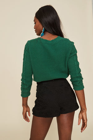 High Waist Short With Side Ruffles