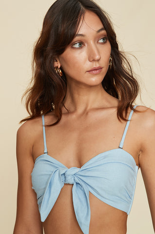 Knot Bandeau With Ties