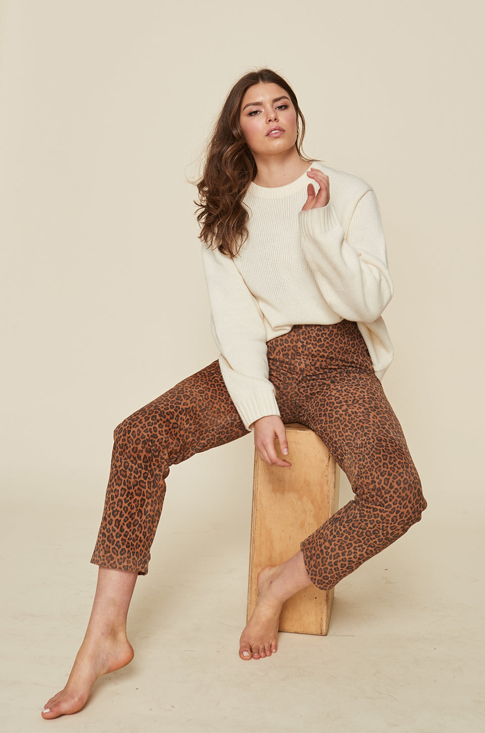 Leopard Leather Pant