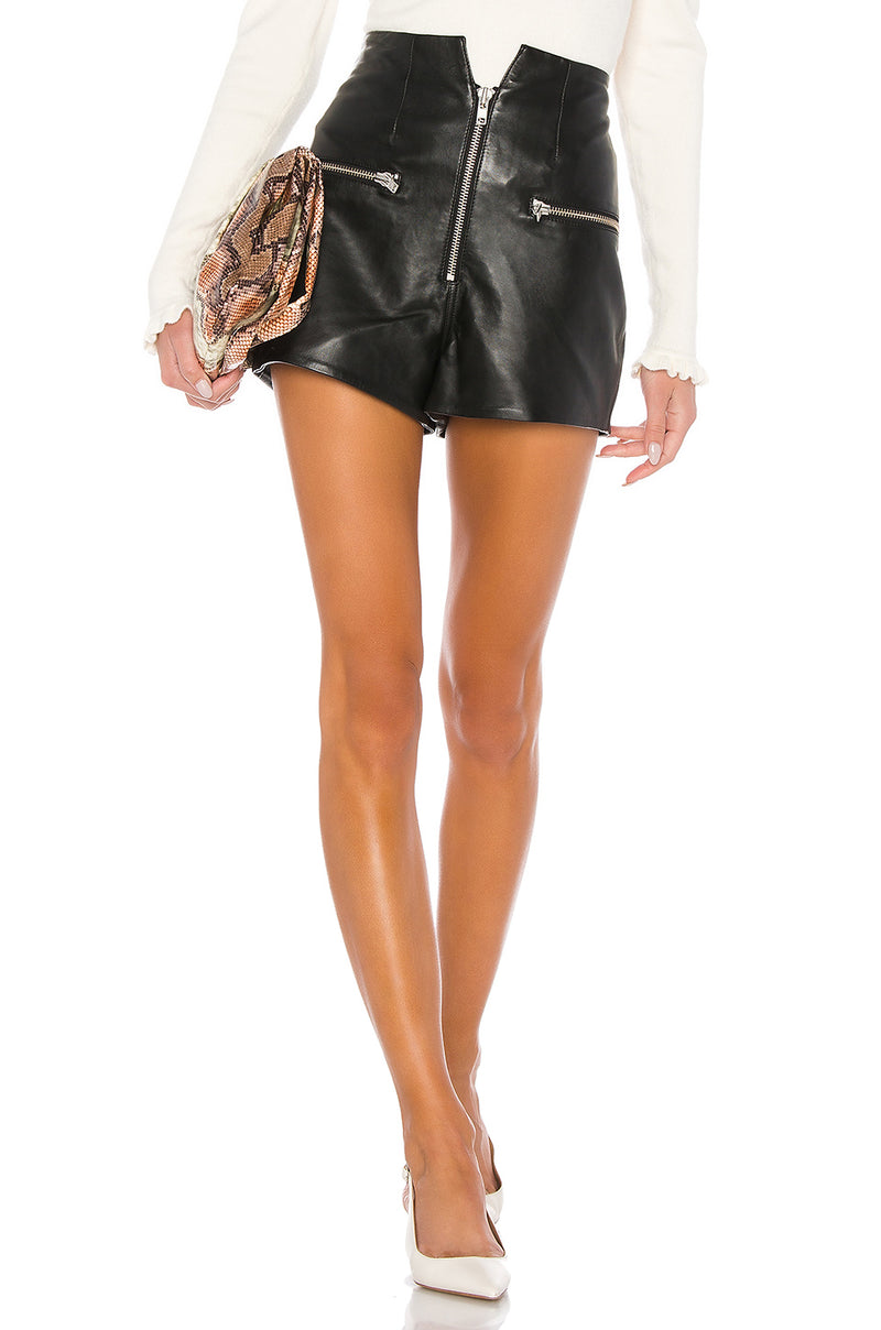 Lorenzo Leather Shorts