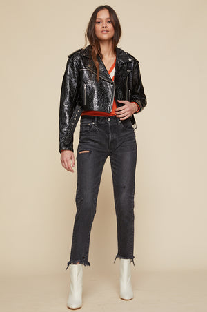 Margot Cropped Moto Jacket