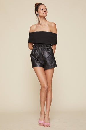 Nina Leather Shorts