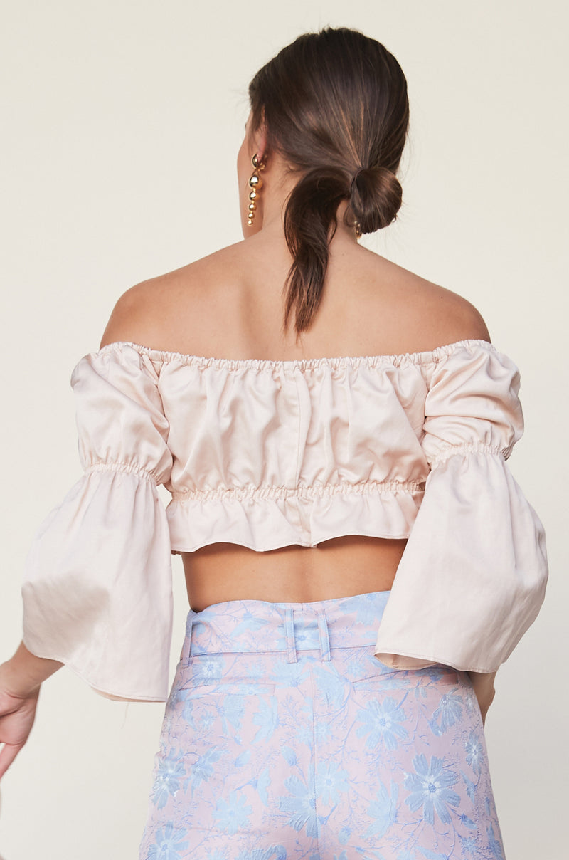 Off Shoulder Shirred Top