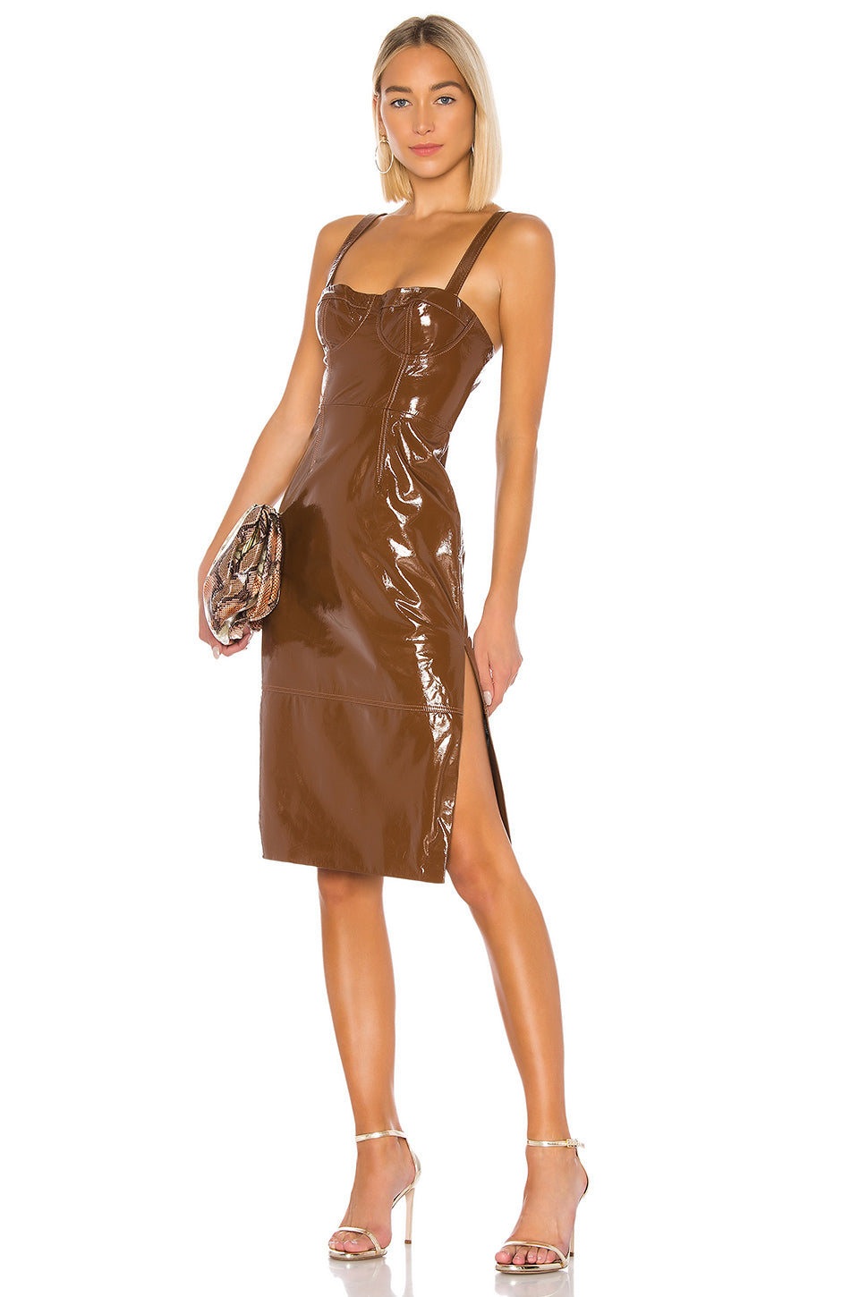 Ophelia Leather Midi Dress