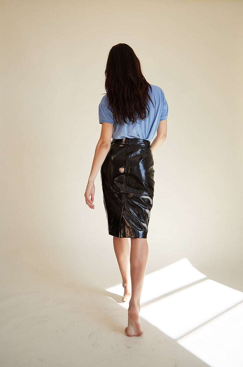 Patent Pencil Skirt