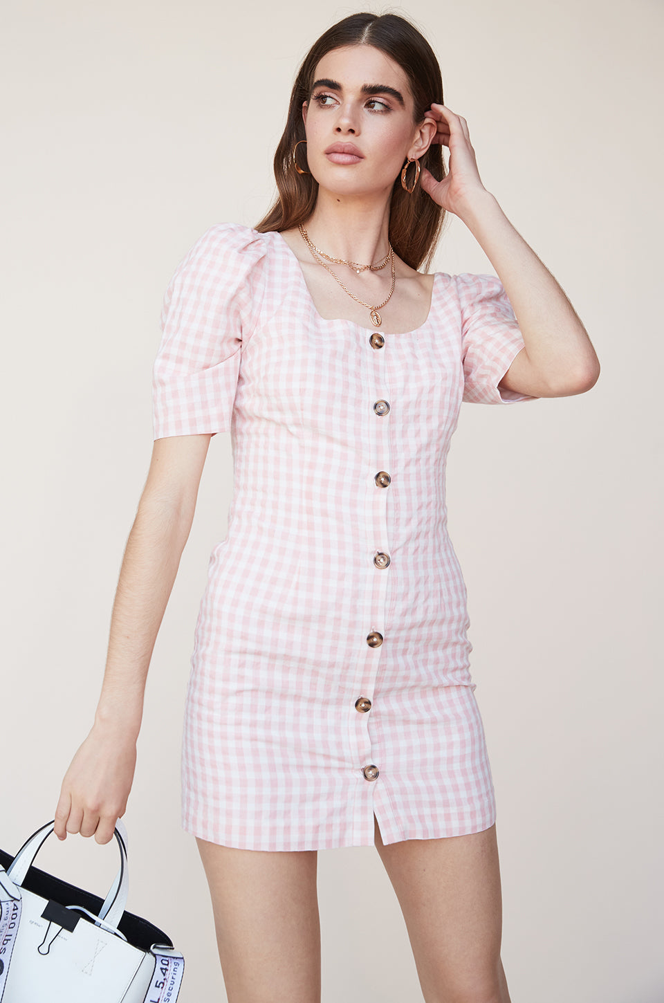 Button Up Dress with Sleeves