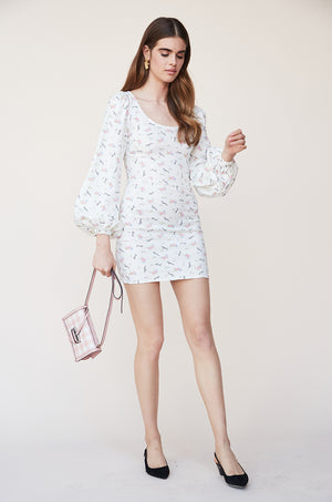 Puff Sleeve Mini Dress