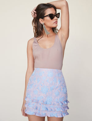 Tiered Ruffle Mini Skirt