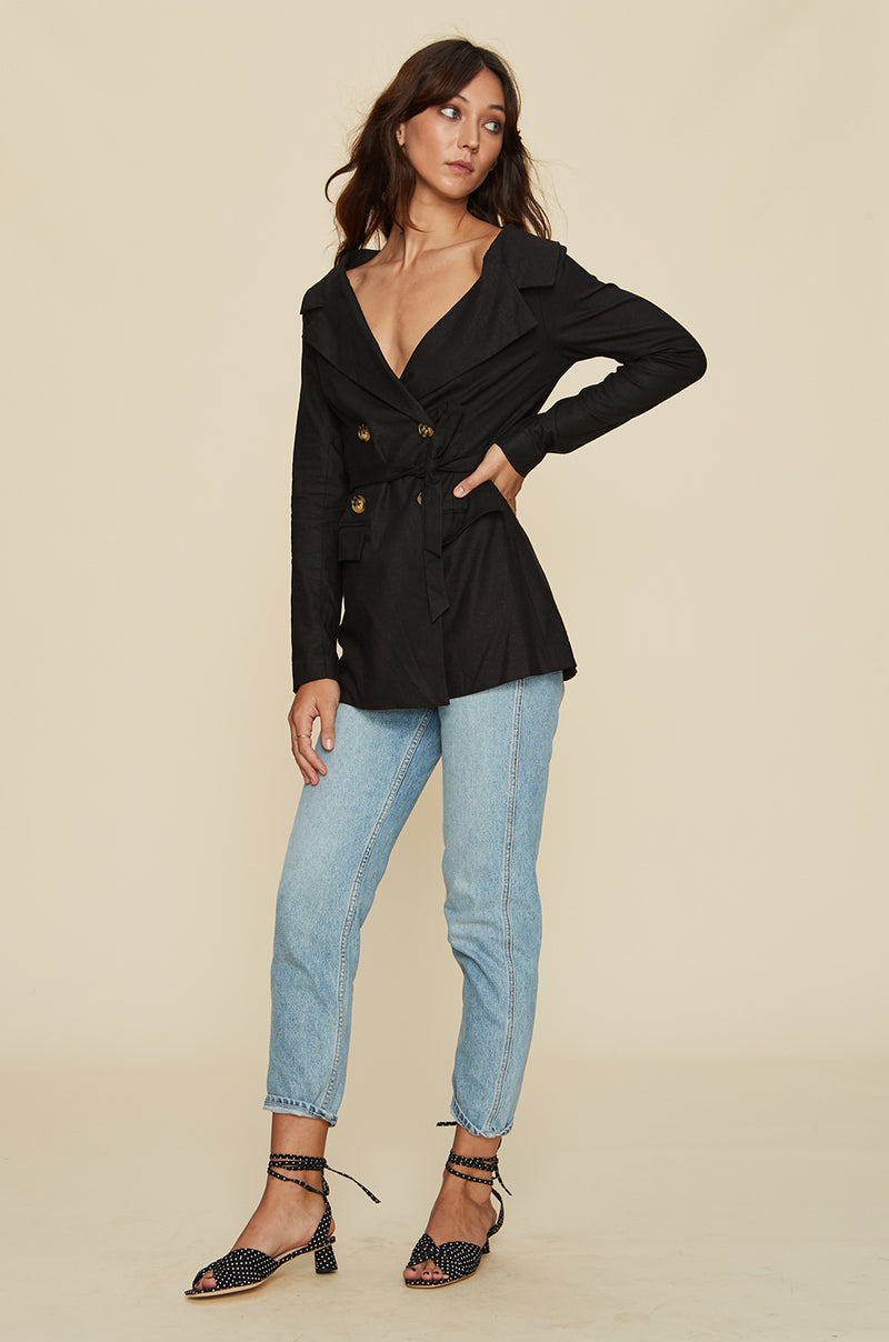 Wide Neck Blazer