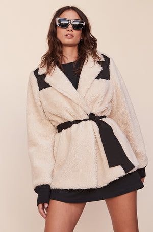 Wrap Sherpa Jacket