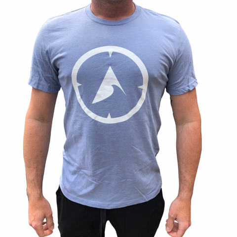 705 Compass Tee - Heather Blue