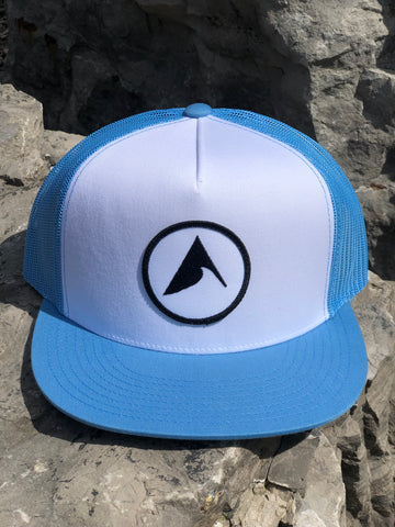 Iconic Wave Trucker (Carolina Blue / White)