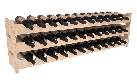 36 Bottle Scalloped Wine Rack - Pine
