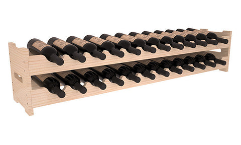 24 Bottle Scalloped Wine Rack - Pine