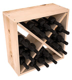 24 Bottle Rustic Pine Cube - Pine