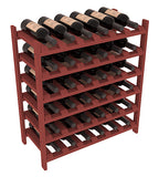 36 Bottle Stackable Wine Shelving - Pine