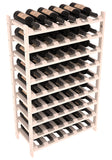 54 Bottle Stackable Wine Shelving - Pine