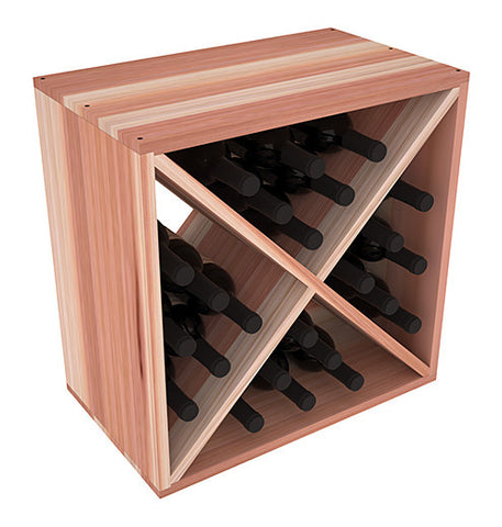 24 Bottle Solid X-Cube - Redwood