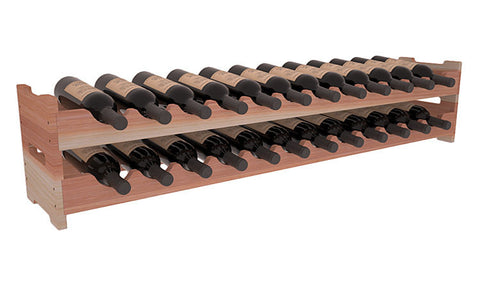 24 Bottle Scalloped Wine Rack - Redwood