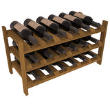 18 Bottle Stackable Wine Shelving - Redwood