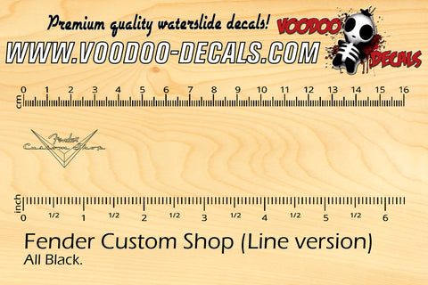 Fender Custom Shop (Line Version)