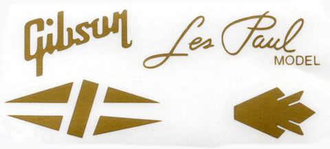 Gibson Vinyl decal SET - ALL GOLD