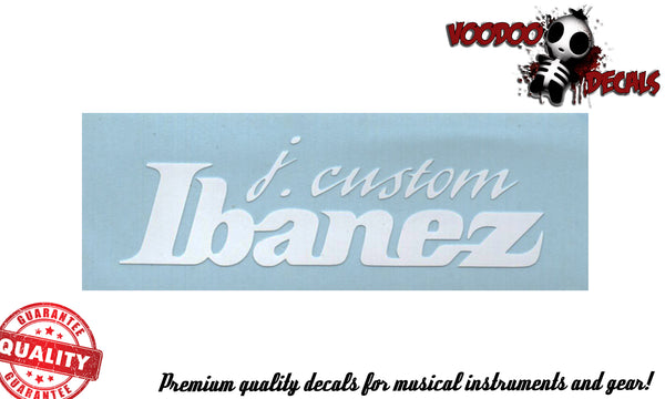 Ibanez J. Custom Vinyl Decal - ALL White