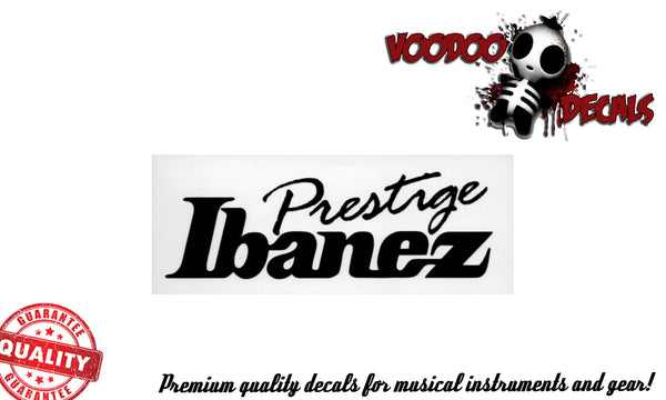 Ibanez Prestige Vinyl Decal - ALL BLACK