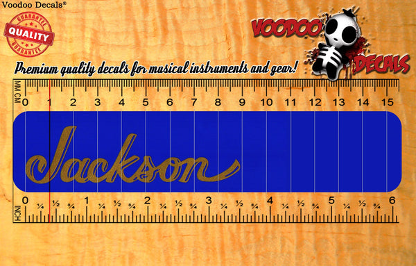 Jackson Vinyl decal - ALL GOLD
