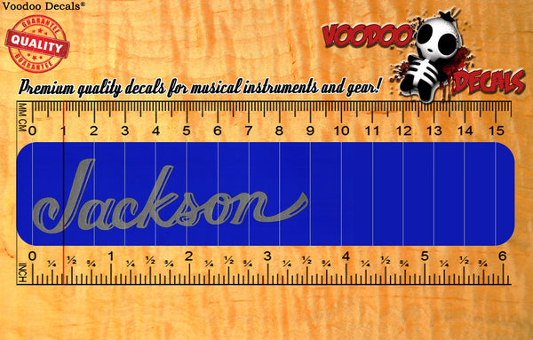 Jackson Vinyl decal - ALL SILVER