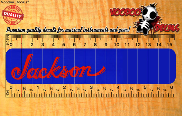 Jackson Vinyl decal - ALL RED