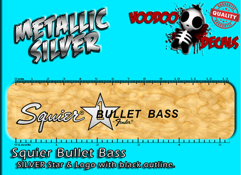 Squier Bullet Bass - Silver and Black