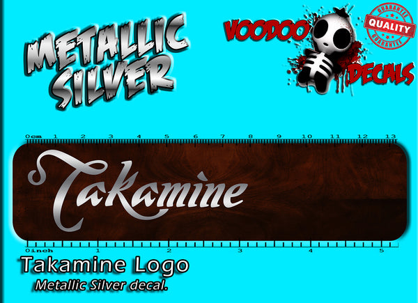 Takamine Logo - All Silver