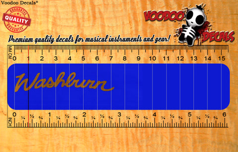 Washburn vinyl decal - Peal and Stick - ALL GOLD