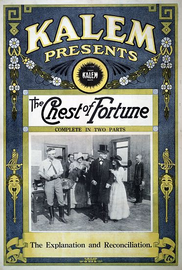 """The Chest of Fortune"" - Kalem Presents - Vintage Movie Poster"