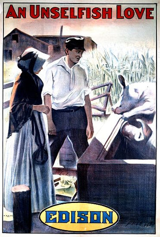 """An Unselfish Love"" - 1910 Edison Movie Poster"