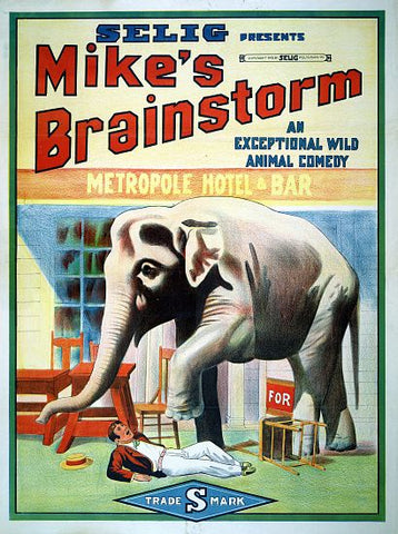 """Mike's Brainstorm"" -  Selig Movie Poster"